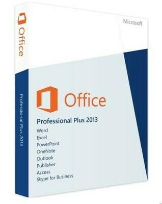 MS Microsoft Office 2013 Professional Plus / Original Key / per Ebay Messenger