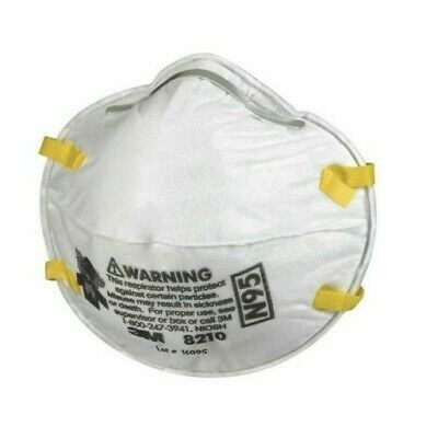 3M 8210 N95 Particulate Respirator Mask - Box of 20 - Brand New