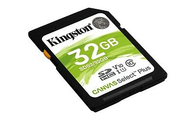 Kingston 32GB SD Card SDHC 100MB/s UHS-I Class 10 TF Memory Card 4K For Cameras