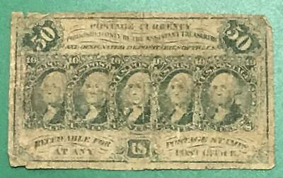"1862 US Fractional Currency ""FIFTY CENTS"" Old US Paper Money Currency!"