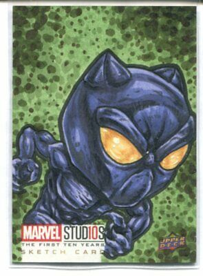 2019 Ud Marvel Studios First Ten Years Sketch Card Artist By Fuzzy 1/1