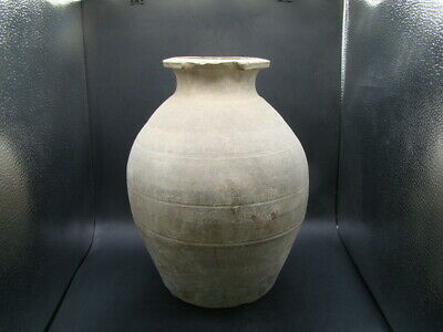 Chinese Han Dynasty (206BC-220AD) nice large pottery vase  w4425