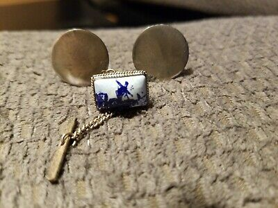 Pair of Vintage Sterling Silver Cufflinks Signed
