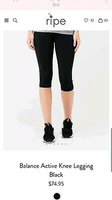 BNWT Ripe Maternity Balance Knee Leggings - Size Medium RRP $74.95