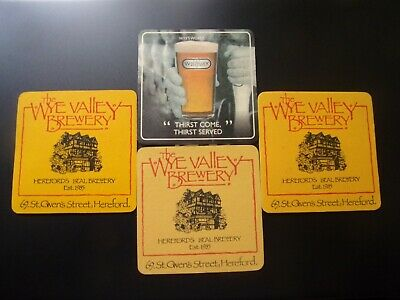 100 Wye Valley Brewery Beer Pub Carded Drink Mats Coasters Man Cave Home Bar