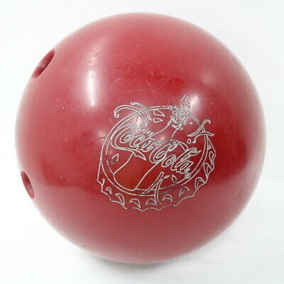 AMF Bowling Ball + Carrying Bag Coca Cola Branding Made In USA #905