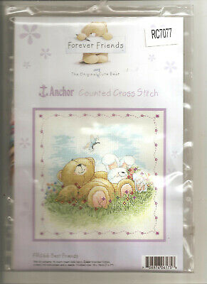 FOREVER FRIENDS Counted Cross Stitch Complete Kit 18x18cm by Anchor Brand NEW!