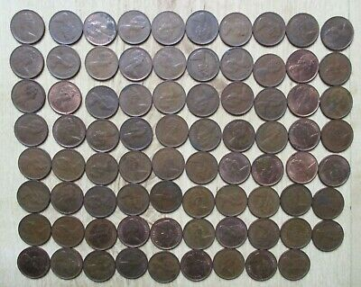 Job Lot Collection 79 New ½ penny Halfpennies Coins QEII 1971-1982 jewellery