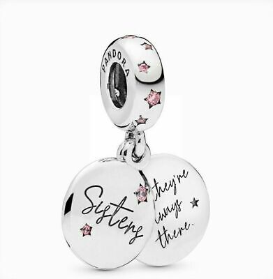 New Genuine Silver Pandora Forever Sister Dangle Charm S925 Ale 798012Fpc