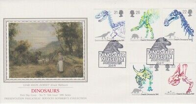 Gb Stamps First Day Cover 1991 Dinosaur Dorchester Rares Collection