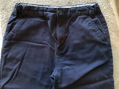 """Denim & Co Boys Navy Chinos Age 12-13 Years Used Condition. Inner Leg 28"""""""