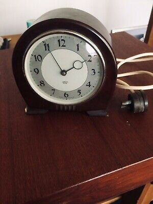 Vintage Smiths  Bakelite Art Deco Electric Alarm Clock