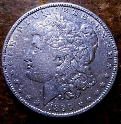 1890 Morgan Silver Dollar Nice High Grade Circulated Coin #1