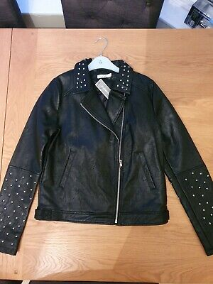 BNWT Girls Bluezoo Faux Leather Biker Jacket Age 13 Years