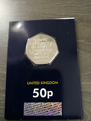 2020 BREXIT 50p coin , marking UK leaving the EU brilliant uncirculated