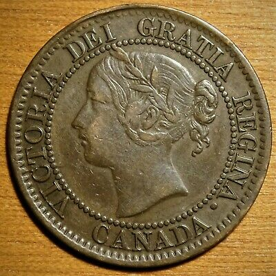 1859 Canada Large Cent Coin - VERY NICE Victoria Penny!