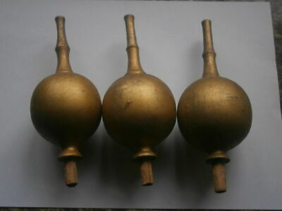 3LONGCASE GRANDFATHER CLOCK  wooden FINIAL  set of 3