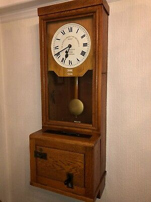 Antique Gledhill-Brooke Time Recording Co, Cloking In Clock.