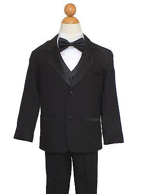 Sz:18(18 years) BOYS , PARTY, GRADUATION  SUIT, BLACK with BOW TIE