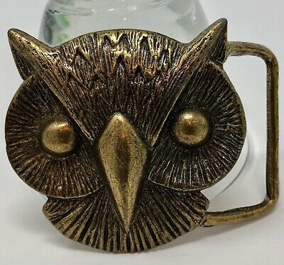 VINTAGE OWL BELT BUCKLE Crafted in Solid Brass ~ PERFECTION