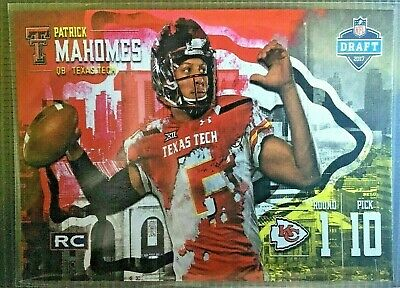 2017 Patrick Mahomes II KC Chiefs Pro Focus Draft Rookie Card RC ACEO