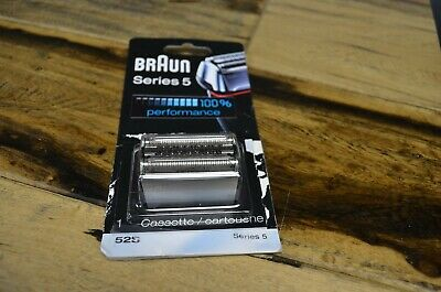 Braun Series 5 52S Electric Shaver Head Replacement Cassette Silver Open New