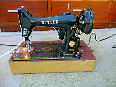 1950's SINGER 99K SEWING MACHINE WITH CASE-WORKS GREAT