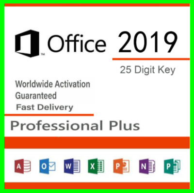🔥MS Office 2019 Professional Plus Product License Key Lifetime32/64Bit💲PayPal✅