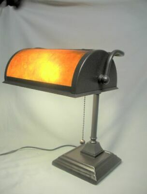 Mission Bankers Desk Lamp Mica Shade New Art & Crafts Style Light Works