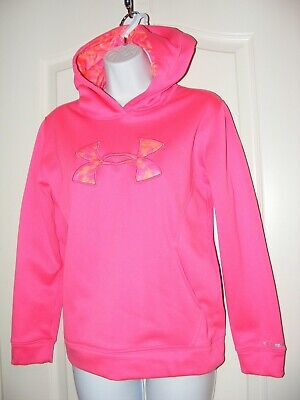 Girls Youth L Under Armour Jacket Sweater Hoody Hoodie Storm Vgc Camouflage Camo