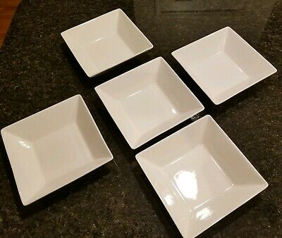 10 Strawberry Street White salad soup cereal bowl set of 5