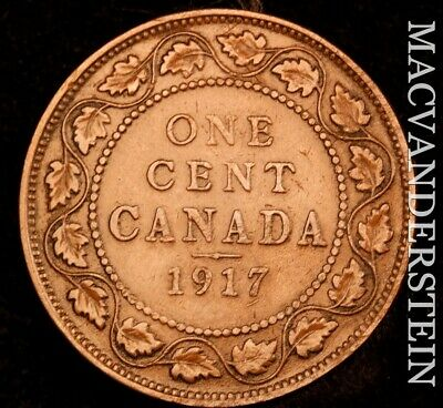 Canada: 1917 One Large Cent - Scarce  Better Date  #NR4635