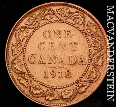 Canada: 1918 One Large Cent - Scarce  Better Date  #NR4636