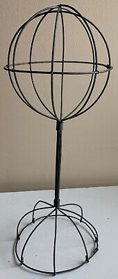 Vintage Sculptural Decorative Wire Metal Mannequin Head Hat Display Stand MCM