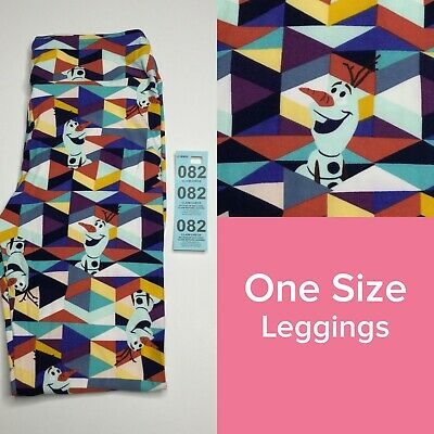 #82 Lularoe Leggings Disney OS One Size Unicorn Frozen Movie BNWT Elsa Anna Snow