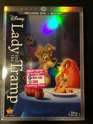 Lady and the Tramp (Blu-ray/DVD, 2012, 2-Disc Set, Diamond Edition)