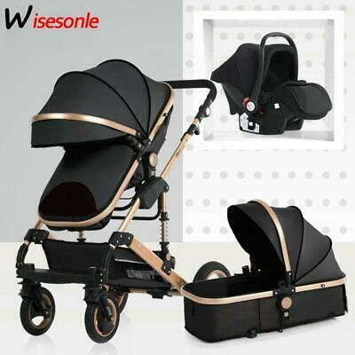 2019 new baby trolley high landscape 3 to 1 baby stroller double faced children