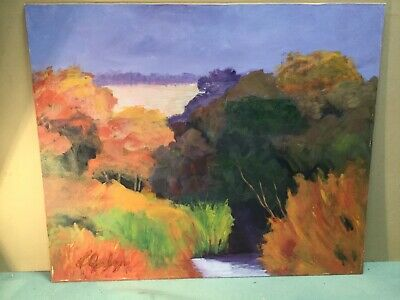 Signed Landscape Oil Painting