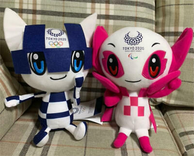 Tokyo 2020 Olympic Paralympic Game Mascot Plush Doll 40cm Official license big