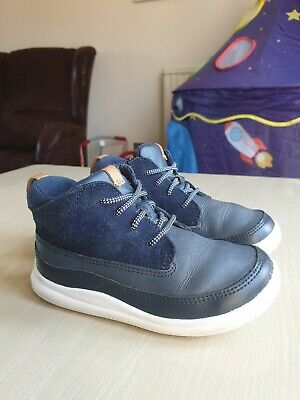 Clarks boys navy leather trainers kids sizes 7.5//25-12.5//31 RRP £38