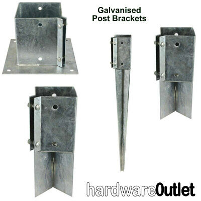 Galvanised Timber Fence Post Fixing Bracket Concrete In Bolt Down Repair & Drive
