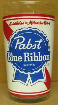 PABST BLUE RIBBON BEER Established in Milwaukee 1844 10oz. Beer GLASS, WISCONSIN