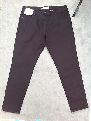 "Ladies Next Black Relaxed Skinny Mid Rise Jeans Size 16 Reg BNWT £30 W36"" L30"""