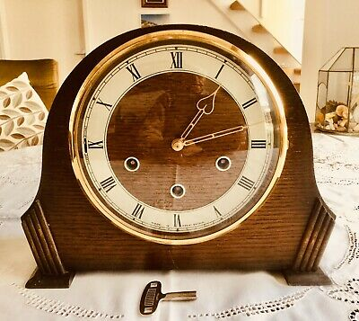 Vintage 'Smiths' Westminster Chiming Mantel Clock - Working With Key
