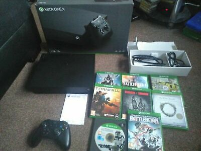 Xbox One X 1 TB Console 4k Ready Bundle Inc Controller, Box, All Wires & 8 Games