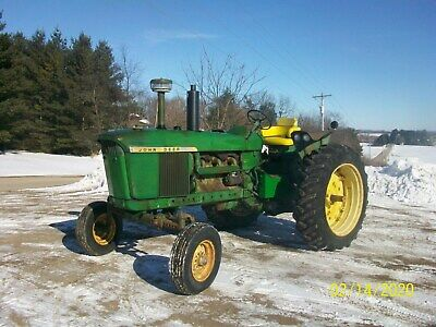 1968 John Deere 4020 Diesel Antique Tractor NO RESERVE 3 Point New Tires farmall
