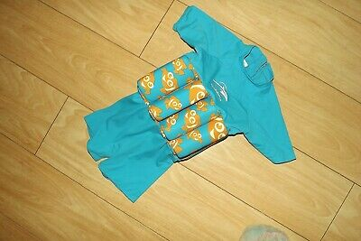 Easy Swim Children Safety Swimming Suit with built in float Pink Turquoise 4-5