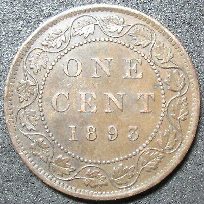 1893 Canada Cent Coin