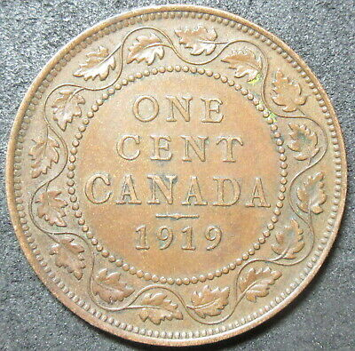 1919 Canada Cent Coin