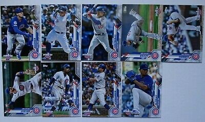 2020 Topps Opening Day Chicago Cubs Base Team Set of 9 Baseball Cards
